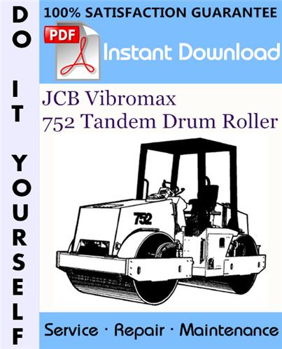 Thumbnail JCB Vibromax 752 Tandem Drum Roller Service Repair Workshop Manual ☆
