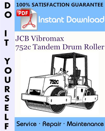 Thumbnail JCB Vibromax 752c Tandem Drum Roller Service Repair Workshop Manual ☆