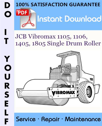 Thumbnail JCB Vibromax 1105, 1106, 1405, 1805 Single Drum Roller Service Repair Workshop Manual ☆