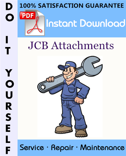 Thumbnail JCB Attachments Service Repair Workshop Manual ☆