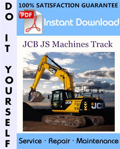 Thumbnail JCB JS Machines Track Service Repair Workshop Manual ☆