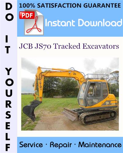 Thumbnail JCB JS70 Tracked Excavators Service Repair Workshop Manual ☆