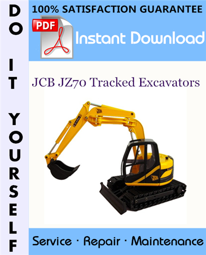 Thumbnail JCB JZ70 Tracked Excavators Service Repair Workshop Manual ☆