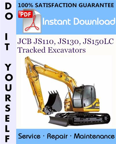 Thumbnail JCB JS110, JS130, JS150LC Tracked Excavators Service Repair Workshop Manual ☆
