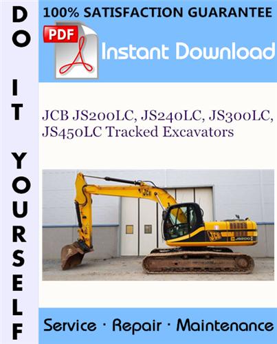Thumbnail JCB JS200LC, JS240LC, JS300LC, JS450LC Tracked Excavators Service Repair Workshop Manual ☆