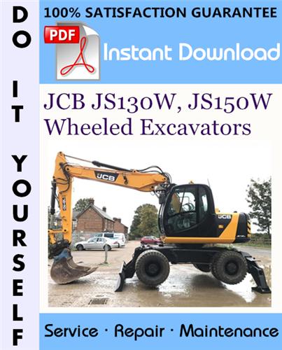 Thumbnail JCB JS130W, JS150W Wheeled Excavators Service Repair Workshop Manual ☆