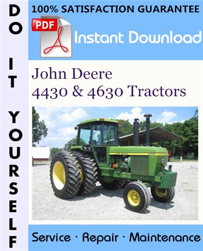 Thumbnail John Deere 4430 & 4630 Tractors Technical Manual ☆