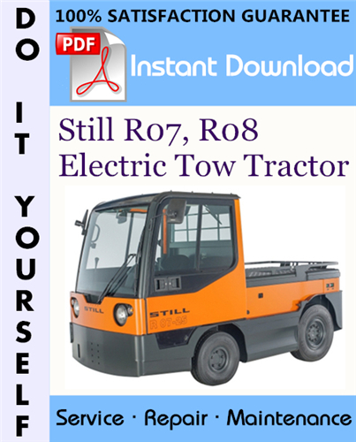 Thumbnail Still R07, R08 Electric Tow Tractor Service Repair Workshop Manual ☆