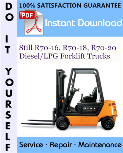 Thumbnail Still R70-16, R70-18, R70-20 Diesel/LPG Forklift Trucks Service Repair Workshop Manual ☆
