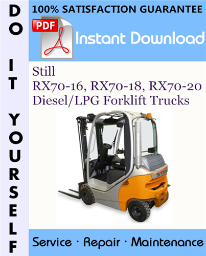 Thumbnail Still RX70-16, RX70-18, RX70-20 Diesel/LPG Forklift Trucks Service Repair Workshop Manual ☆
