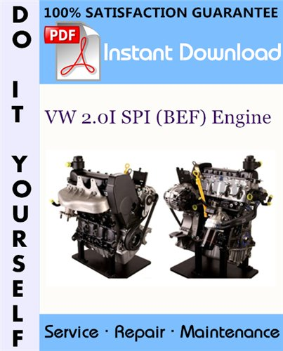 Thumbnail VW 2.0I SPI (BEF) Engine Service Repair Workshop Manual ☆