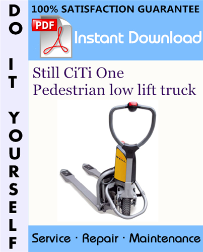 Thumbnail Still CiTi One Pedestrian low lift truck Service Repair Workshop Manual ☆