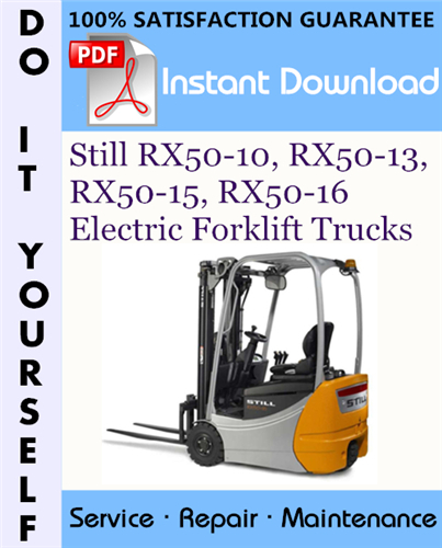 Thumbnail Still RX50-10, RX50-13, RX50-15, RX50-16 Electric Forklift Trucks Service Repair Workshop Manual ☆