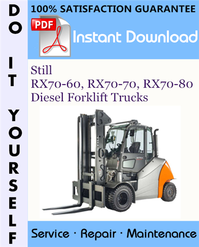 Thumbnail Still RX70-60, RX70-70, RX70-80 Diesel Forklift Trucks Service Repair Workshop Manual ☆