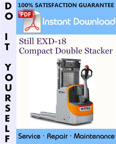 Thumbnail Still EXD-18 Compact Double Stacker Service Repair Workshop Manual ☆