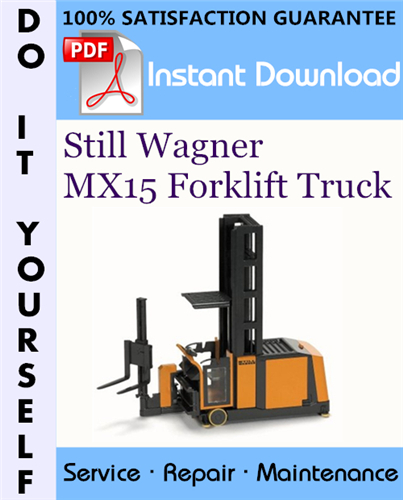 Thumbnail Still Wagner MX15 Forklift Truck Service Repair Workshop Manual ☆