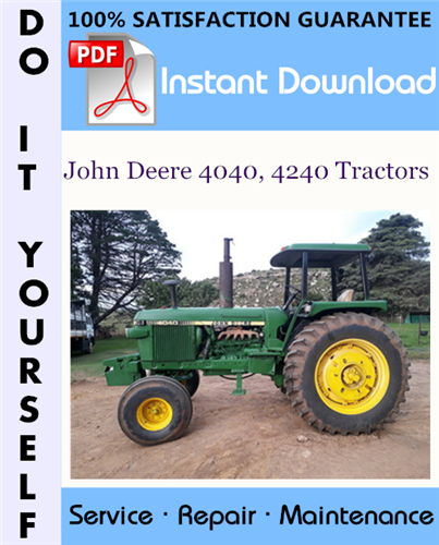 Thumbnail John Deere 4040, 4240 Tractors Technical Manual ☆