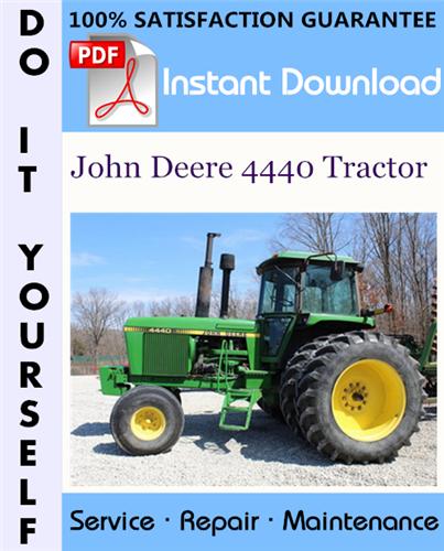 Thumbnail John Deere 4440 Tractor Technical Manual ☆