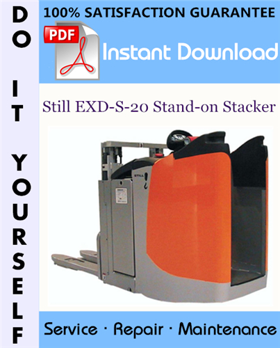 Thumbnail Still EXD-S-20 Stand-on Stacker Service Repair Workshop Manual ☆
