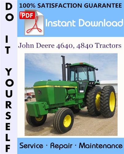 Thumbnail John Deere 4640, 4840 Tractors Technical Manual ☆