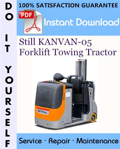 Thumbnail Still KANVAN-05 Forklift Towing Tractor Service Repair Workshop Manual ☆