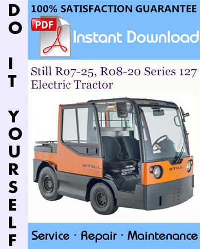 Thumbnail Still R07-25, R08-20 Series 127 Electric Tractor Service Repair Workshop Manual ☆