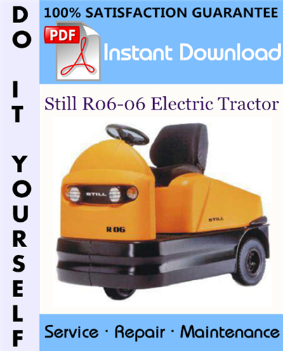 Thumbnail Still R06-06 Electric Tractor Service Repair Workshop Manual ☆