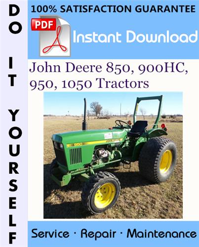 Thumbnail John Deere 850, 900HC, 950, 1050 Tractors Technical Manual ☆