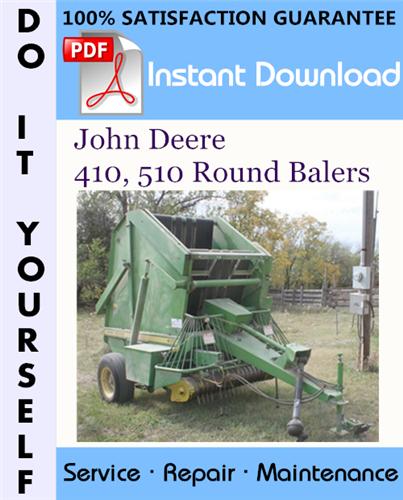 Thumbnail John Deere 410, 510 Round Balers Service Repair Workshop Manual ☆