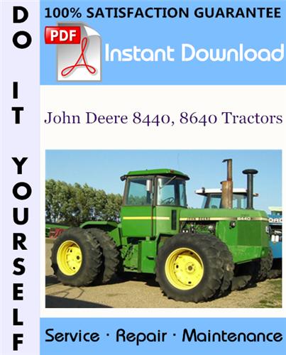 Thumbnail John Deere 8440, 8640 Tractors Repair Technical Manual ☆