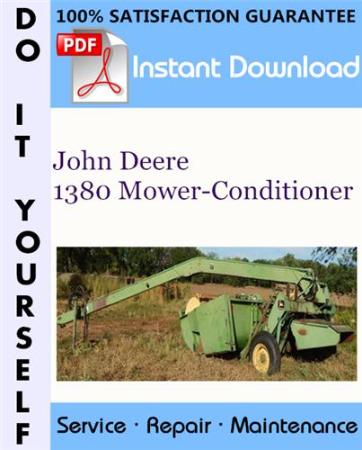 Thumbnail John Deere 1380 Mower-Conditioner Service Repair Workshop Manual ☆