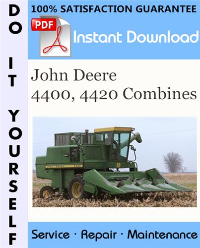 Thumbnail John Deere 4400, 4420 Combines Technical Manual ☆