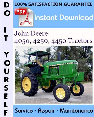 Thumbnail John Deere 4050, 4250, 4450 Tractors Technical Manual ☆