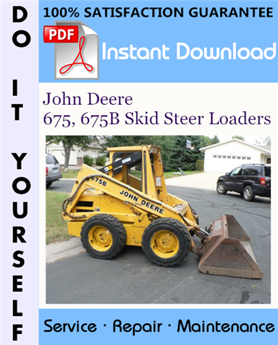 Thumbnail John Deere 675, 675B Skid Steer Loaders Technical Manual ☆