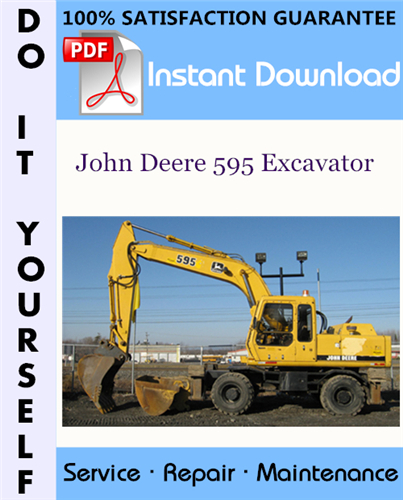 Thumbnail John Deere 595 Excavator Technical Manual ☆
