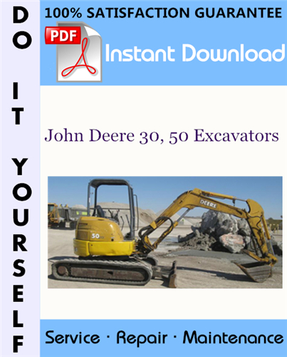 Thumbnail John Deere 30, 50 Excavators Technical Manual ☆