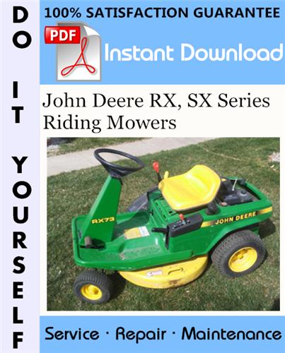 Thumbnail John Deere RX, SX Series Riding Mowers Technical Manual ☆