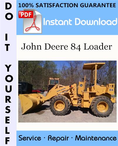 Thumbnail John Deere 84 Loader Repair Technical Manual ☆