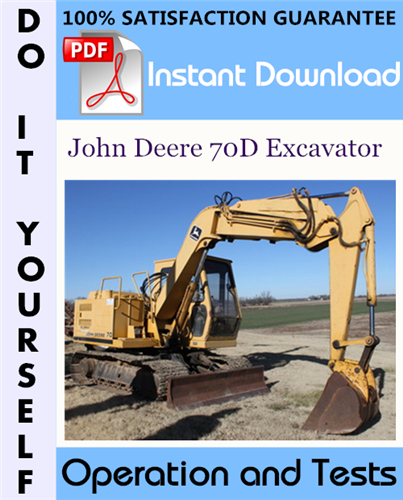 Thumbnail John Deere 70D Excavator Operation and Tests Technical Manual ☆