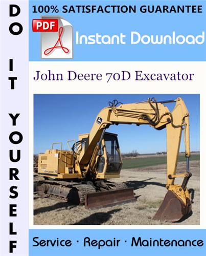 Thumbnail John Deere 70D Excavator Repair Technical Manual ☆