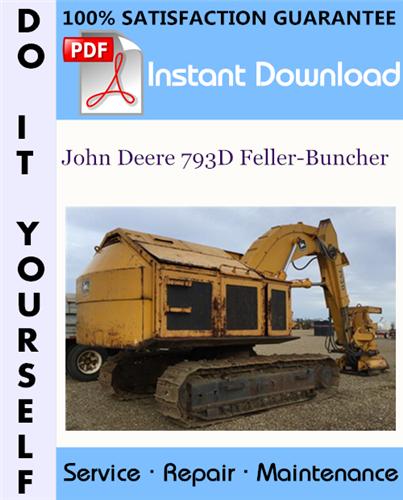 Thumbnail John Deere 793D Feller-Buncher Technical Manual ☆