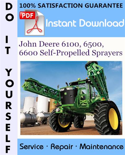 Thumbnail John Deere 6100, 6500, 6600 Self-Propelled Sprayers Technical Manual ☆