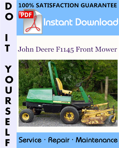 Thumbnail John Deere F1145 Front Mower Technical Manual ☆