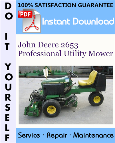 Thumbnail John Deere 2653 Professional Utility Mower Technical Manual ☆
