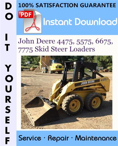 Thumbnail John Deere 4475, 5575, 6675, 7775 Skid Steer Loaders Technical Manual ☆
