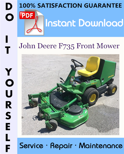 Thumbnail John Deere F735 Front Mower Technical Manual ☆