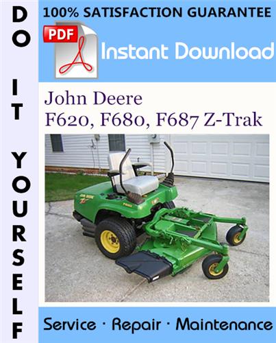 Thumbnail John Deere F620, F680, F687 Z-Trak Technical Manual ☆