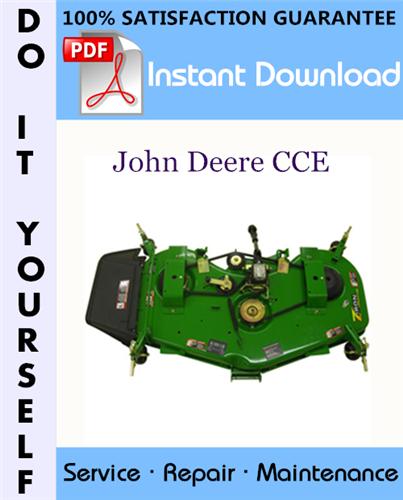 Thumbnail John Deere CCE Service Repair Workshop Manual ☆