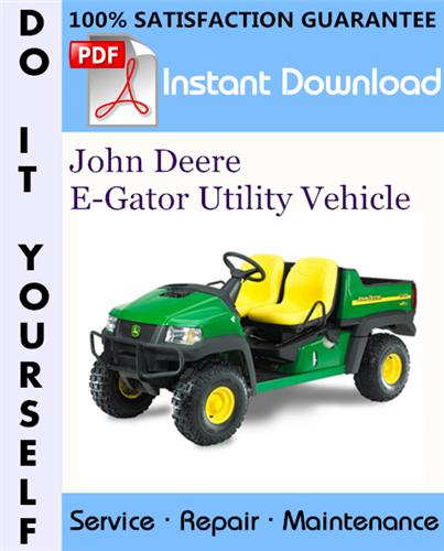 Thumbnail John Deere E-Gator Utility Vehicle Technical Manual ☆