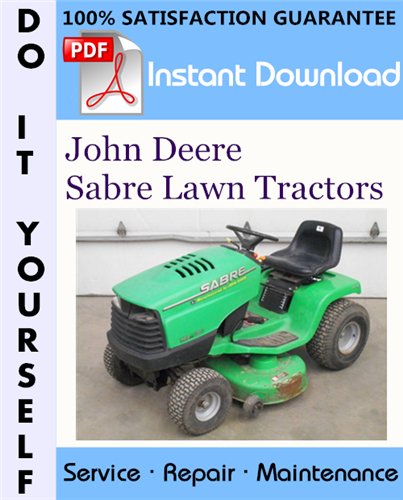 Thumbnail John Deere Sabre Lawn Tractors Technical Manual ☆